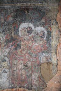 Fresco painting of two women