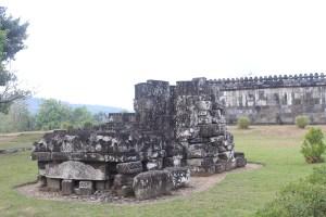 Remains of stone shrine on a plateau