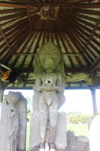 Statue of ascetic in a shelter