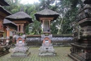 Pair of tall shrines