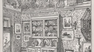 An illustration of a lavishly decorated drawing room corner