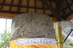 Monumental linga carved and enshrined