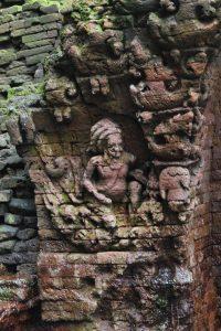 Brick relief of ascetic
