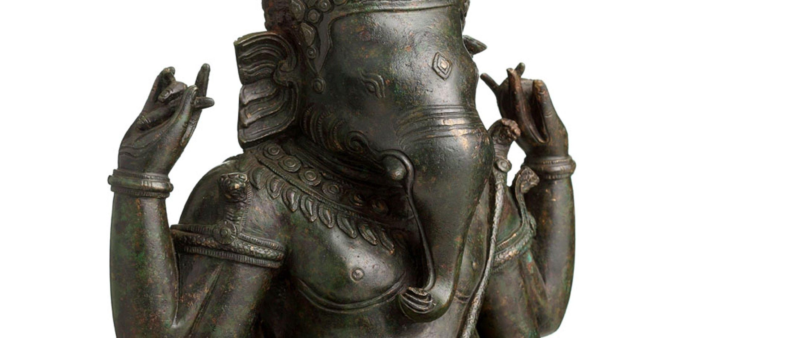 bronze Ganesh figure