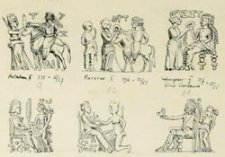 sketches of royal figures