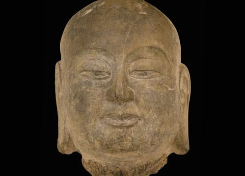 Stone head depicting Ananda