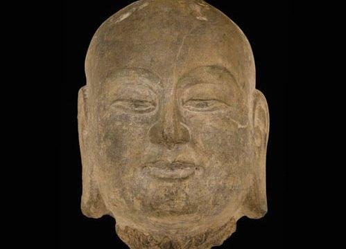 Stone head depicting Ananda