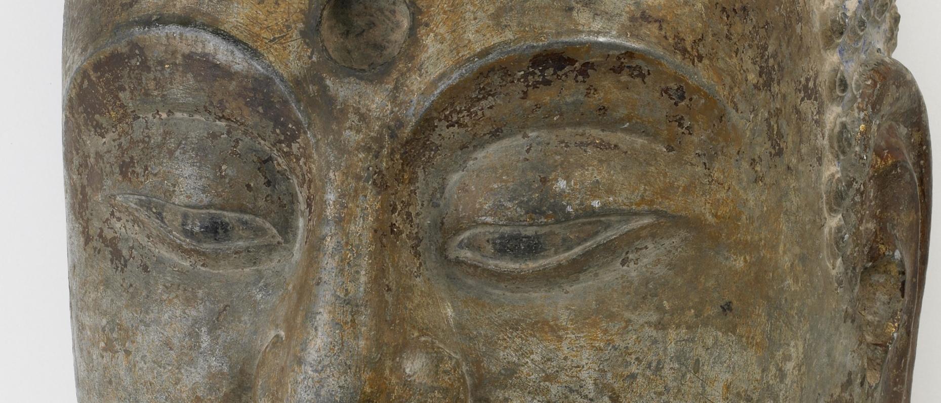 Eyes of a stone-carved buddha