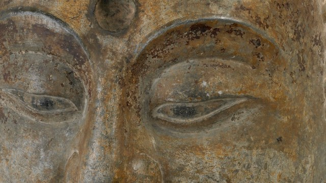 Eyes of a stone-carved buddha