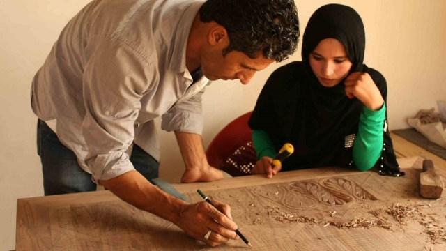 Artisans woodworking