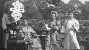 cixi and attendants