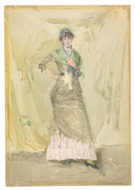A Note in Green 1883–84 Watercolor over chalk on cold-pressed, wove paper F1902.165