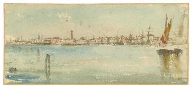 Venice Harbor 1879–80 Watercolor on rough, wove paper F1905.118