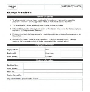Editable Employee referral form Archives - Free Sample Templates