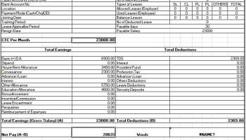 salary sheet slip format