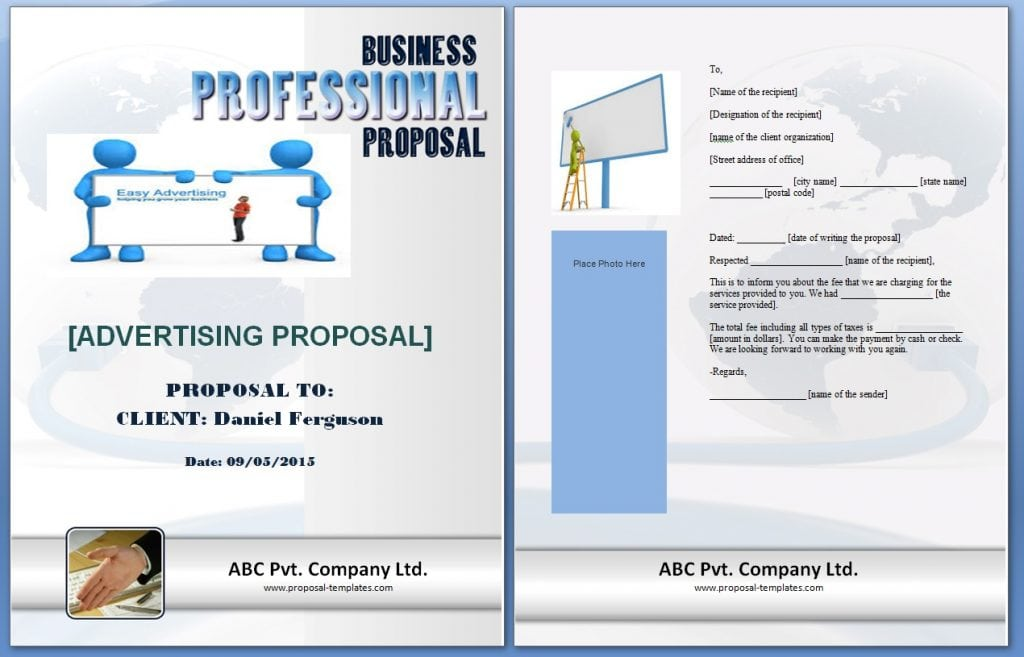 Advertising Proposal Template Formats Examples In Word