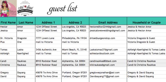 Doc Wedding Planning Guest List Template Clean Life and Home – Wedding Planning Guest List Template