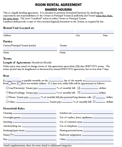 Rental Application Form Sample Aprilonthemarchco - Room for rent application template