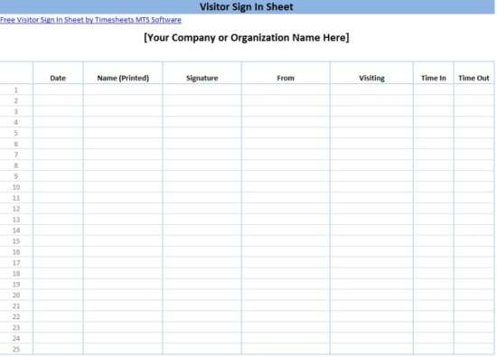 sign in sheet template 1642