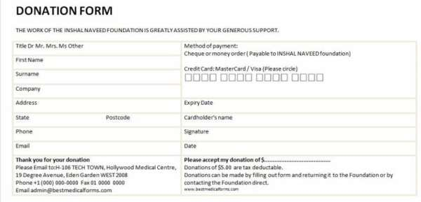 6 Charitable Donation Form Templates - formats, Examples in Word Excel