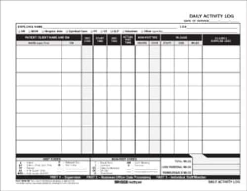 Daily Activity Log Templates  Formats Examples In Word Excel