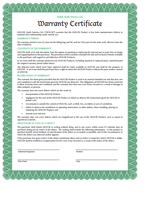5 warranty certificate templates formats examples in for Workmanship guarantee template