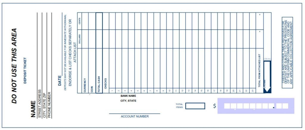 There Are Deposit Slip Templates Word  Free Deposit Slip Template Word