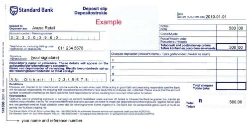 4 deposit slip templates word formats examples in word for Checking deposit slip template