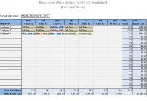 work schedule builder free