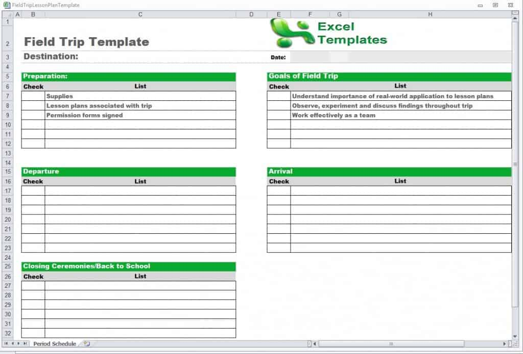 schedule templates free