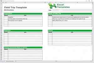 Trip Schedule Template