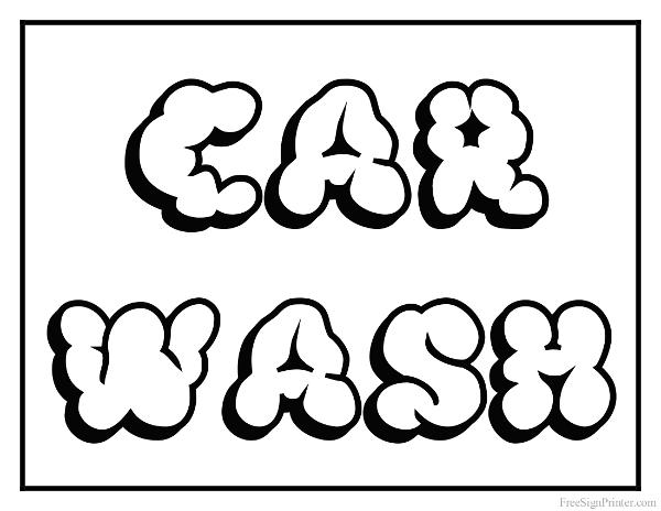 Printable Car Wash Sign
