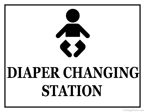Printable Diaper Changing Station Sign