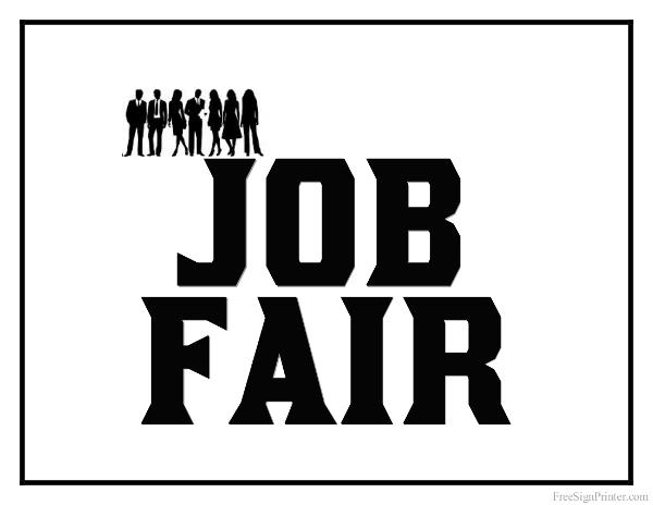 Printable Job Fair Sign