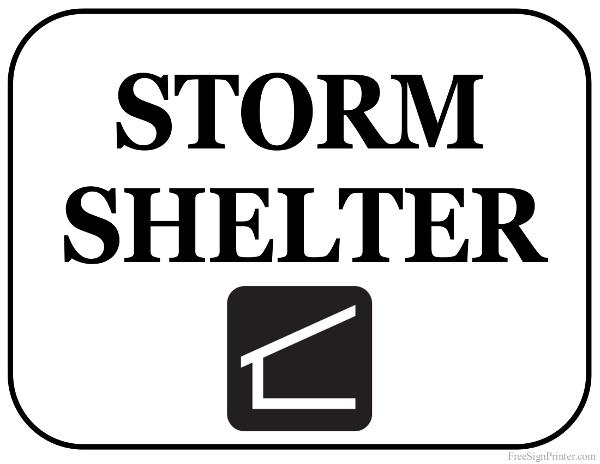 Printable Storm Shelter Sign