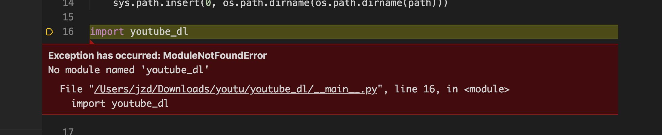 python 項目。解決引用報錯。例子是 youtube-dl - 灰信網(軟件開發博客聚合)
