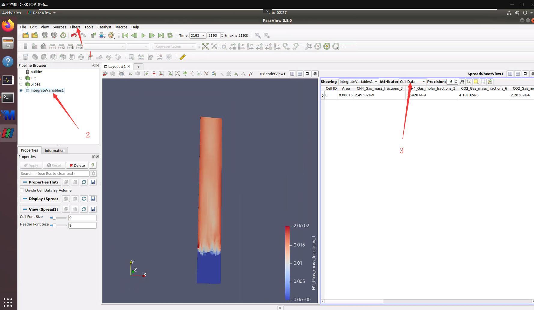 【paraview進行MFiX后處理】如何計算某一氣體組分的質量流量/氣體總產量 - 灰信網(軟件開發博客聚合)