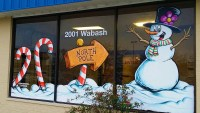Holiday Window Painting  Goodwill Industries  Free Sky