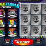 Super Zeroes Scratch Card