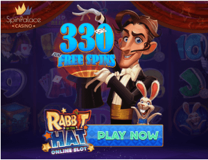 330 Free Spins on Rabbit in the Hat Slot