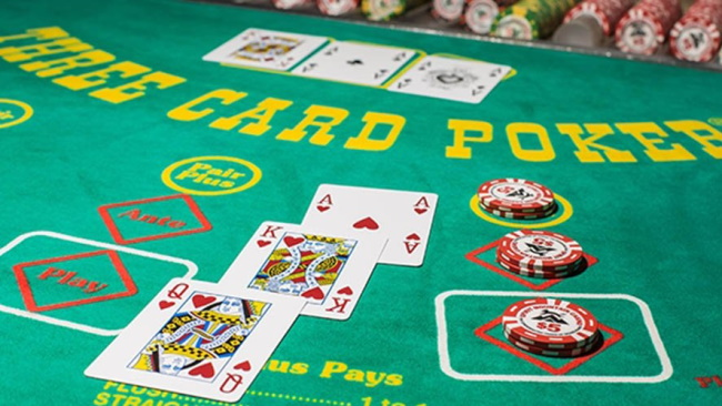3 Card Video poker pair plus