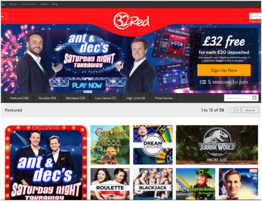 32 red online casino Ireland