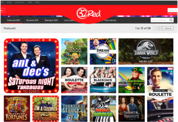 32 Red Casino Ireland- Slots to enjoy