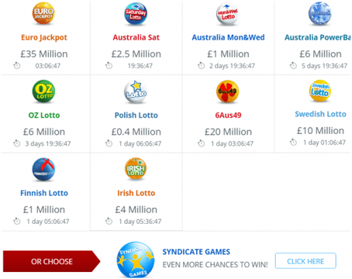 Annexio lotteries