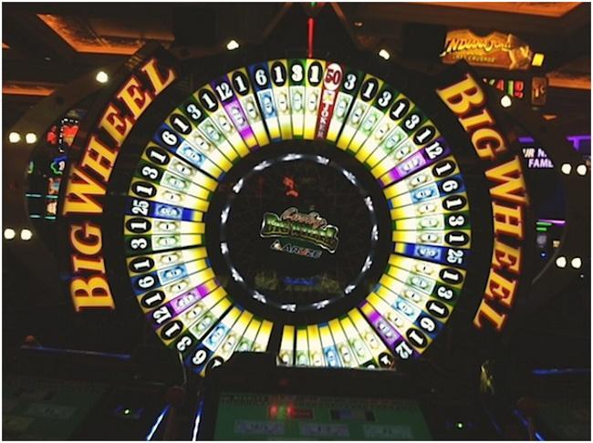 Big Six Wheel Wheel of Fortune Odds of Winning 26% - 39%