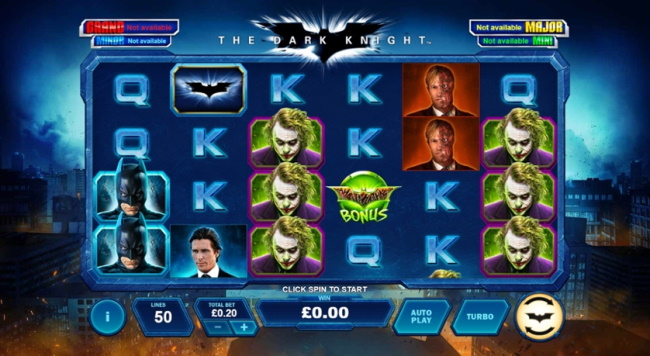 Features of Dark Knight Slot Machine