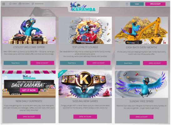 Karamba casino- Bonus offers