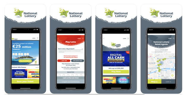 Features  of the National Lottery App