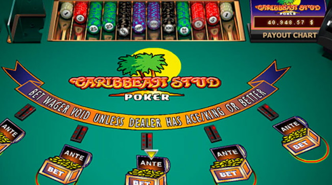 Online Caribbean Stud Poker Games