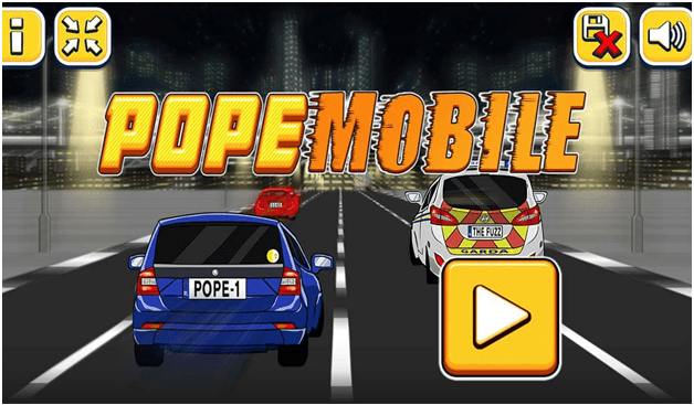 Pope Mobile arcade game